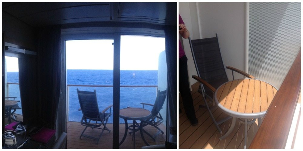 Balcony of balcony cabin #7204 on Celebrity Eclipse