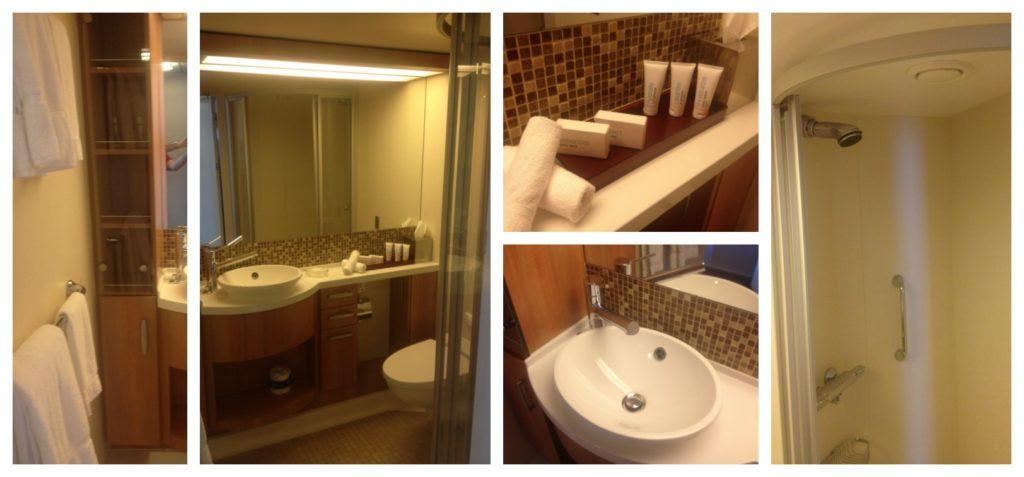 Bathroom on Celebrity Eclipse cabin #7204