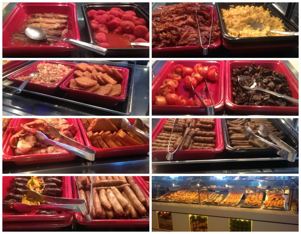 Breakfast selection from the buffet at Oceanview Cafe on Celebrity Eclipse