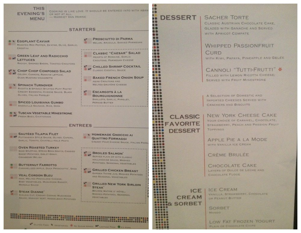 Celebrity Cruise Drink Menu Eclipse