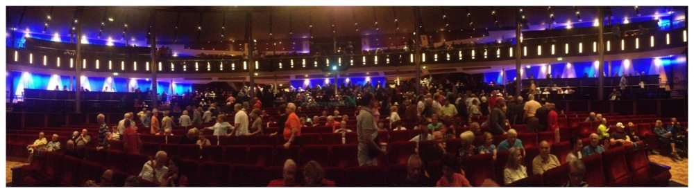 Celebrity Eclipse theatre full of Mickey Live fans
