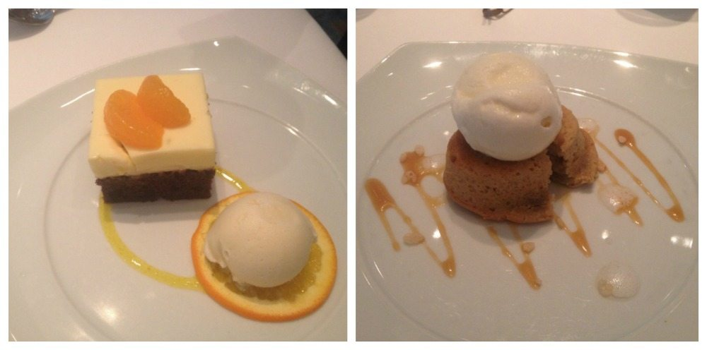 Desserts from the Top Chef menu on Celebrity Eclipse
