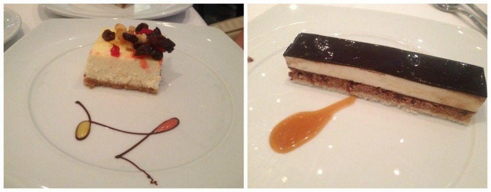 Desserts in the MDR on Celebrity Eclipse