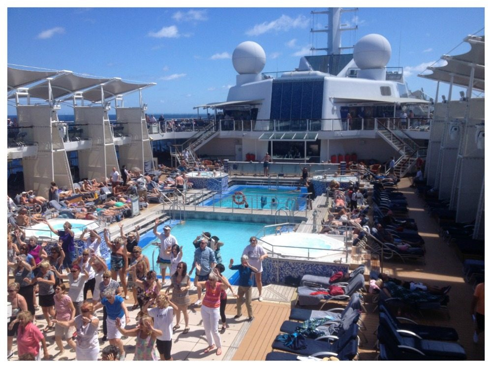 Entertainment by the pool on Celebrity Eclipse