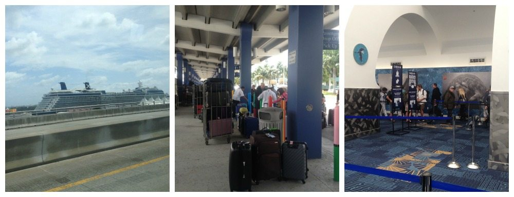 First glimpse of the Eclipse, then bag drop, and into check-in area