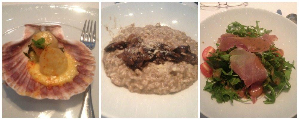 Formal night starters in Moonlight Sonata restaurant