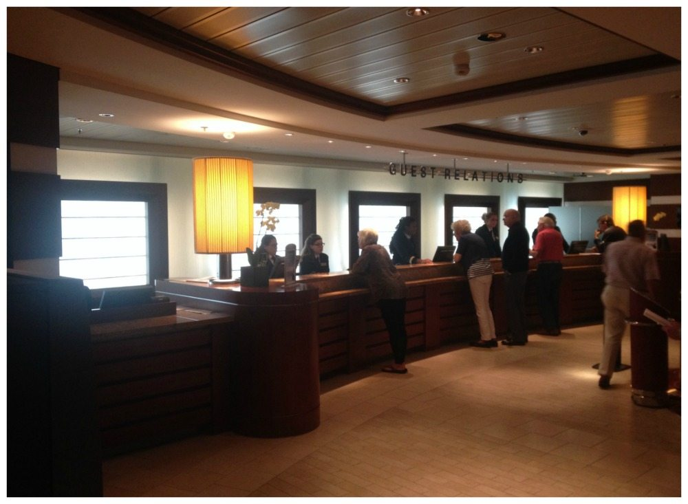 Guest Relations desk on Celebrity Eclipse