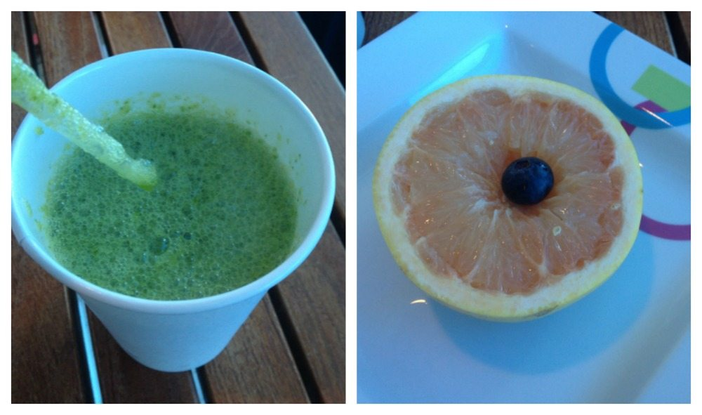 Juice and grapefuits, the healthy choice from the Aqua Spa Cafe