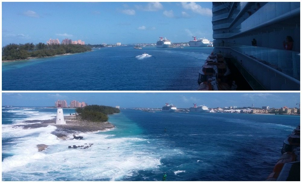 Leaving Nassau in the Bahamas