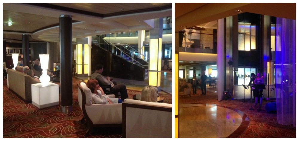 Lobby area on Celebrity Eclipse