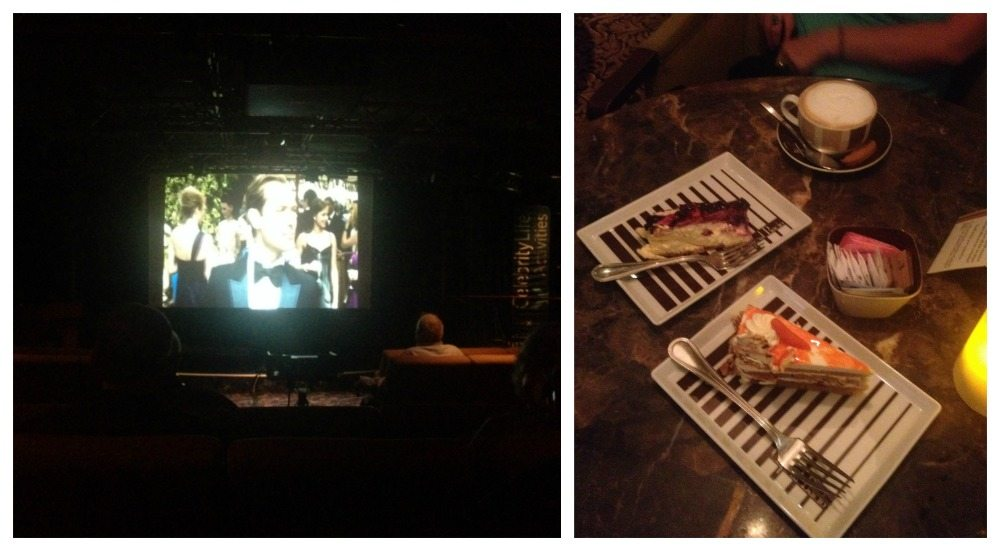 Movie in Celebrity Central followed by coffee & cake