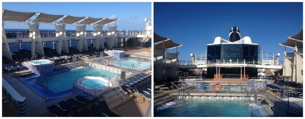 Outdoor pools on Celebrity Eclipse