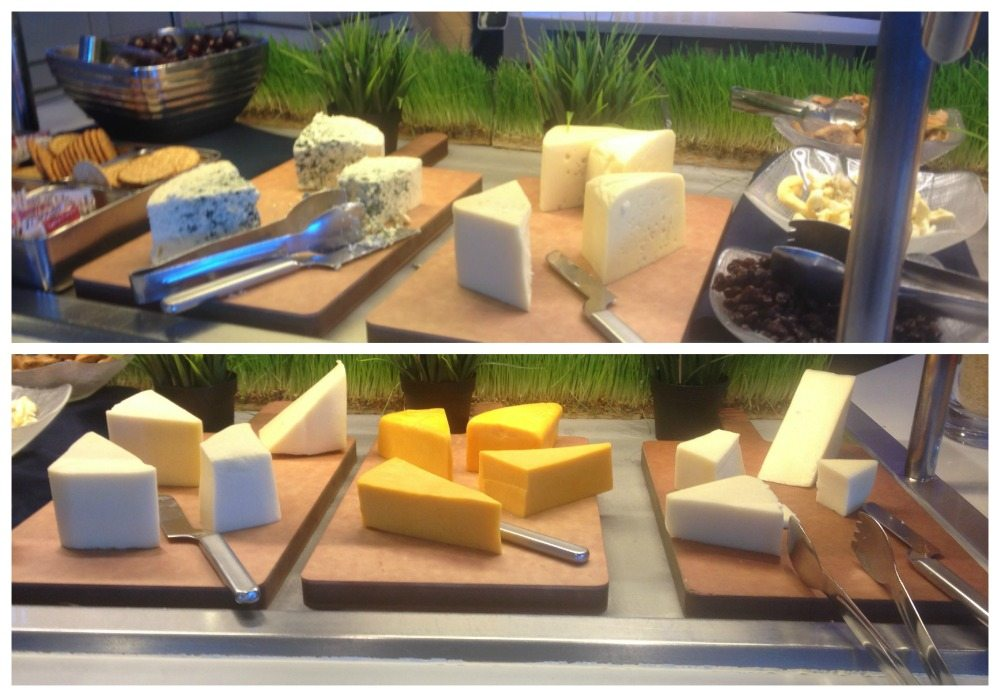 Plenty of cheese available at the buffet in Oceanview cafe on the Eclipse