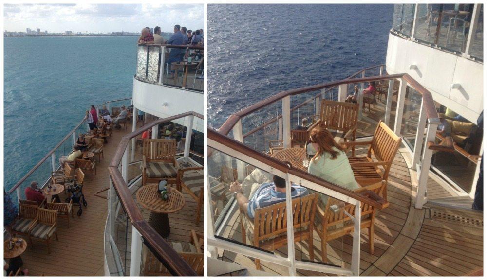 Romantic table between decks