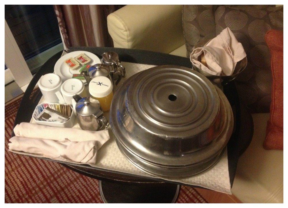 Room service breakfast Celebrity Eclipse