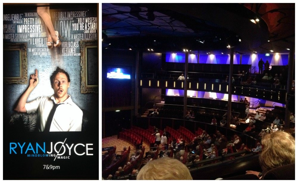 Ryan Joyce in the theatre on Celebrity Eclipse