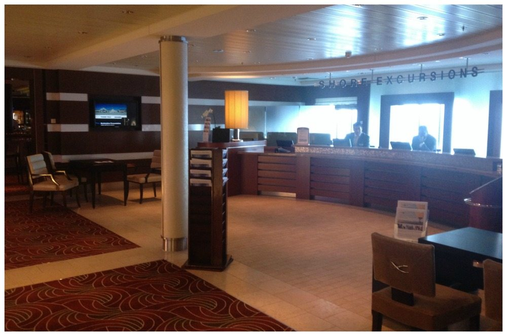 Shore Excursions desk on Celebrity Eclipse