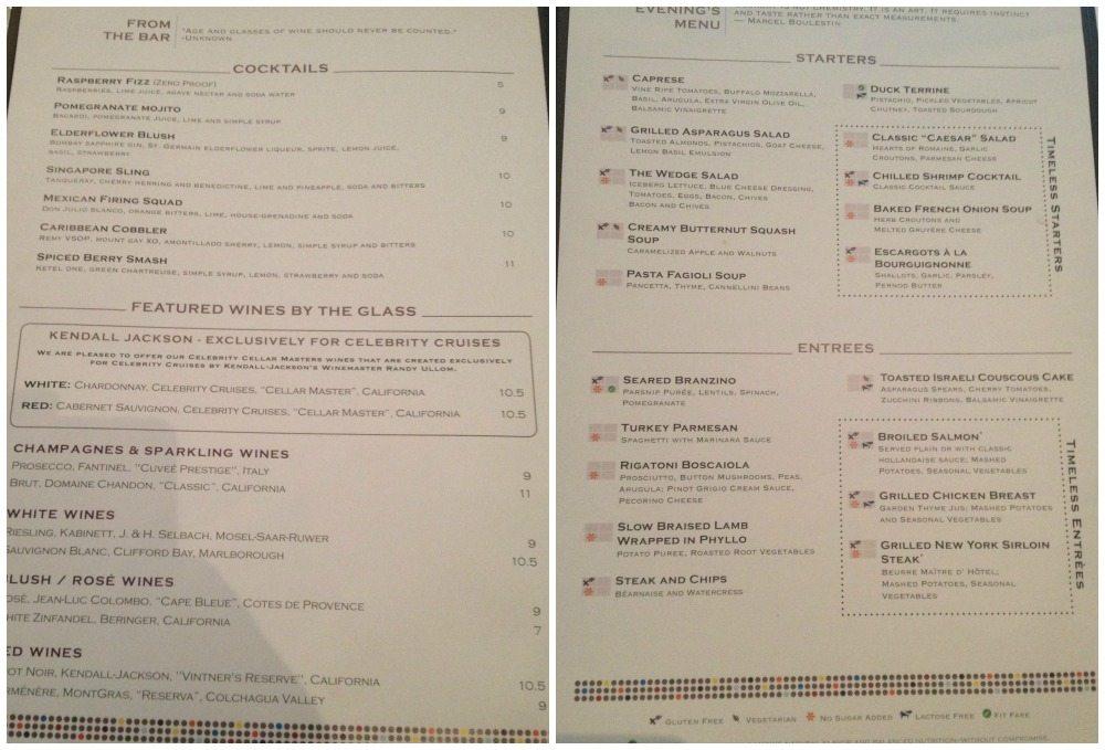 Moonlight Sonata restaurant dinner menu 18.4.16