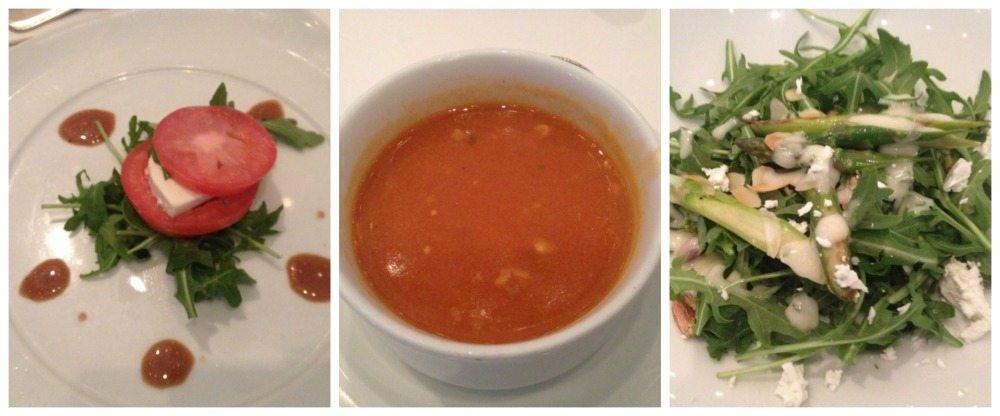 Moonlight Sonata restaurant dinner menu starters 18.4.16
