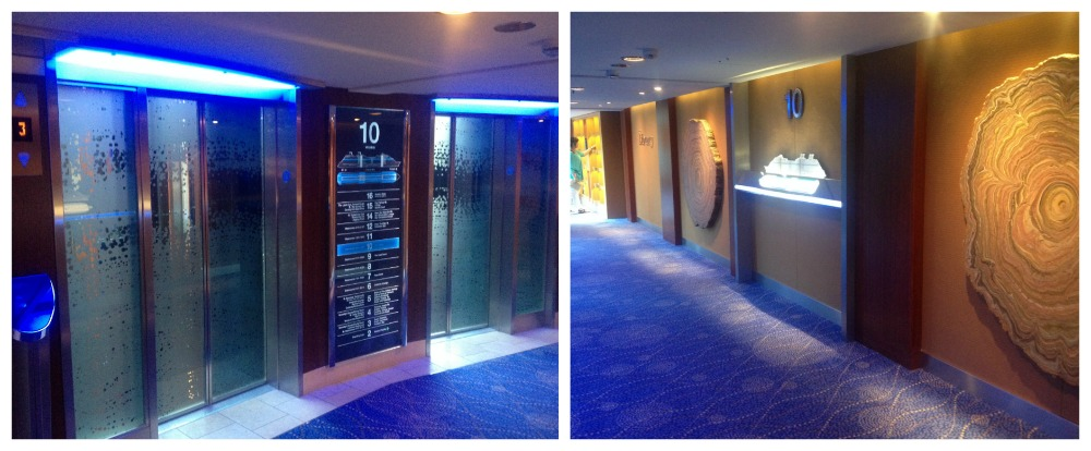 The lift area of deck 10 on Celebrity Eclipse