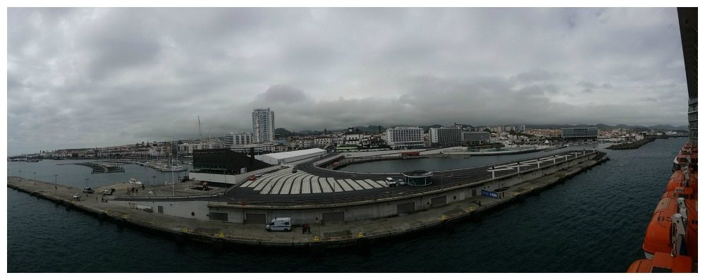 The port of São Miguel island n the Azores, Portugal