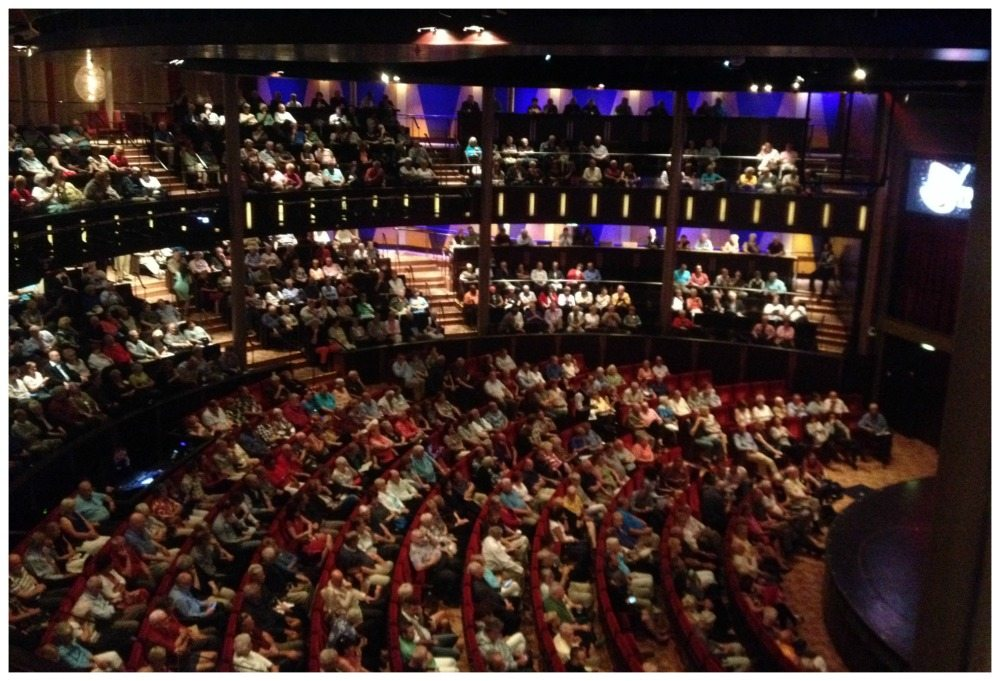 Three levels of the Celebrity Eclipse theatre