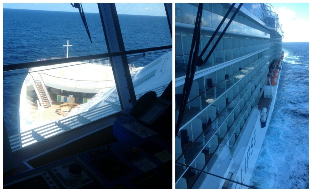 View from the bridge on the Celebrity Eclipse
