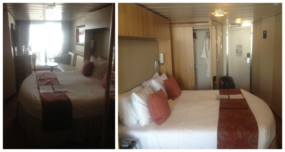 View inside balcony cabin 7204 on the Eclipse