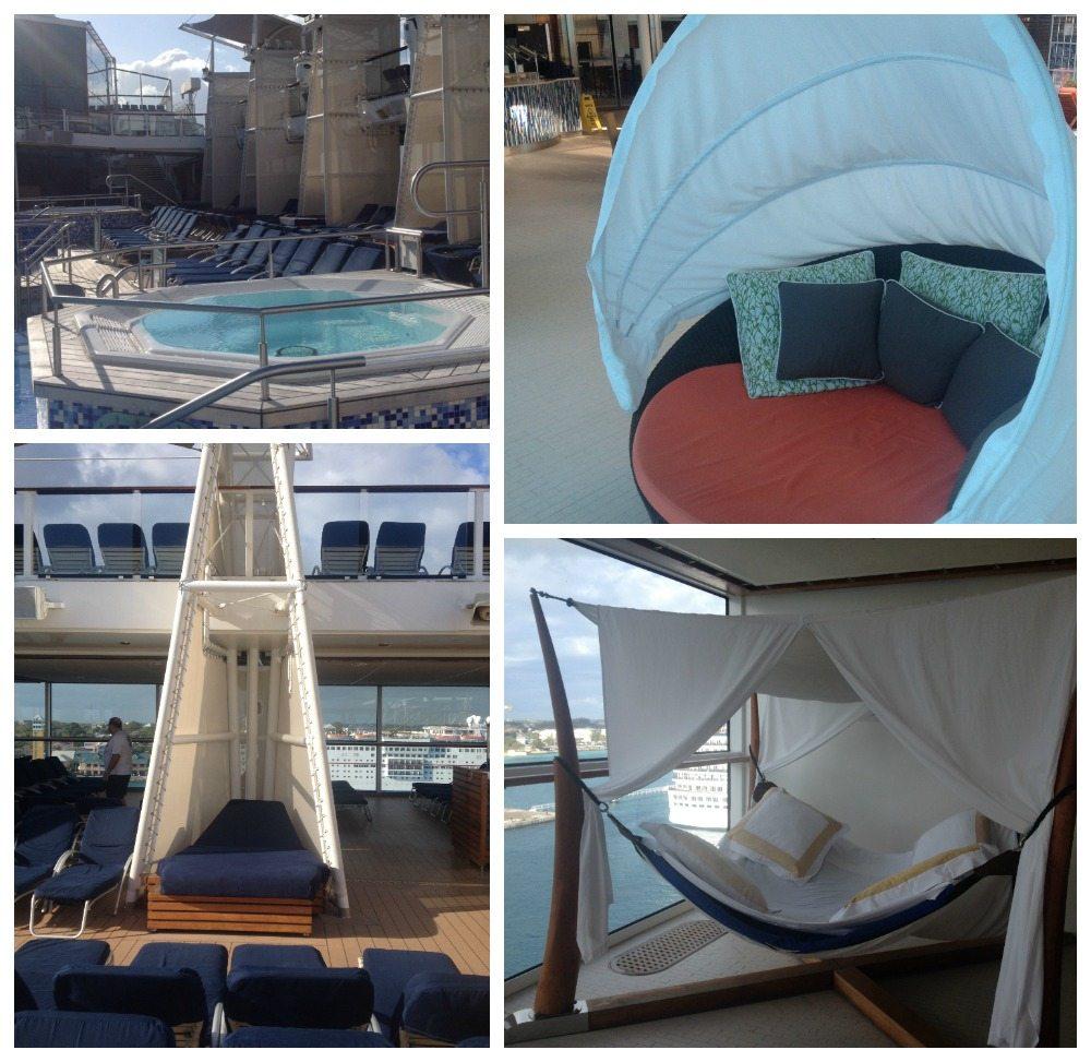 Whirlpools, pods, sun loungers & hamocks