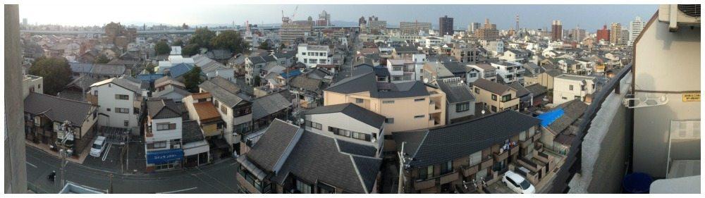 Balcony view from Sembayashi-omiya apartment