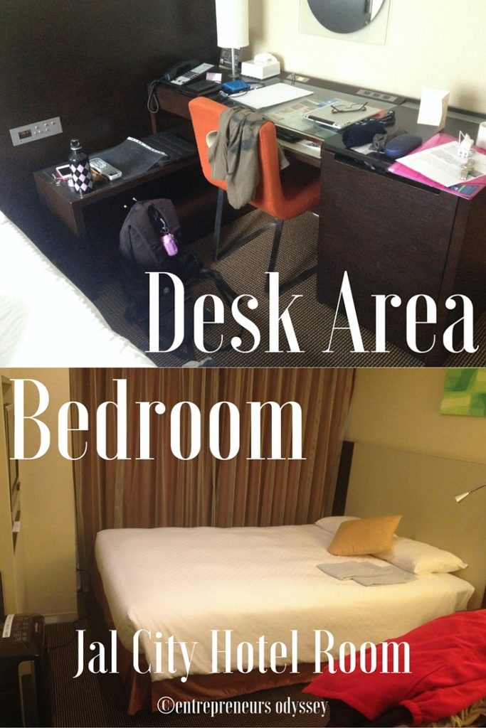 Bedroom & Desk area Hotel Jal City in Yokohama, Japan