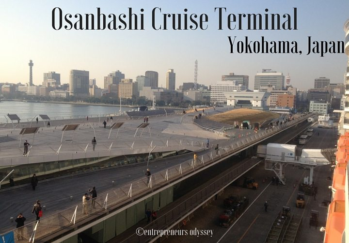 Osanbashi Cruise Terminal in Yokohama, Japan