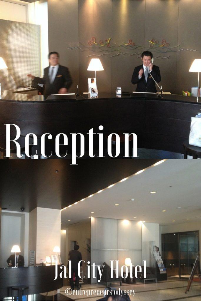 Reception at Hotel Jal City in Yokohama, Japan