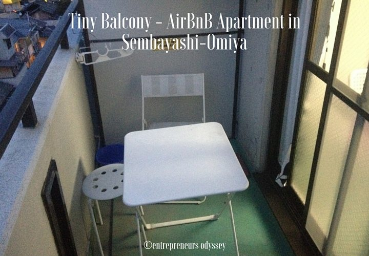 Tiny Balcony - AirBnB Apartment in Sembayashi-Omiya