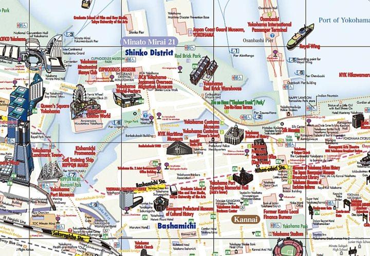 Yokohama Visitors Map