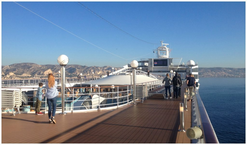 Approaching Marseille by cruise ship
