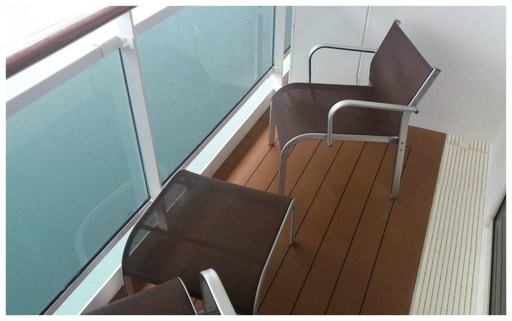 Balcony on MSC Poesia from cabin 12116