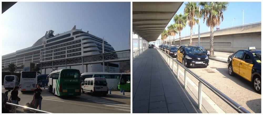 Barcelona cruise terminal area