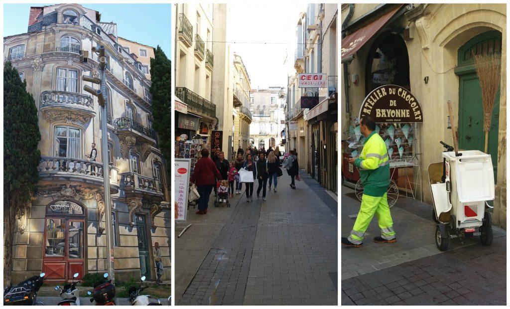 Building mural, car free streets & motorized street threewheelers