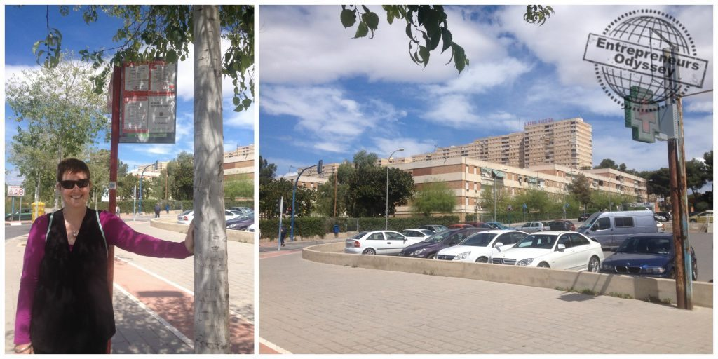 Bus stop very close to the apartment @ Plaza Castalla - Antonio Amorós