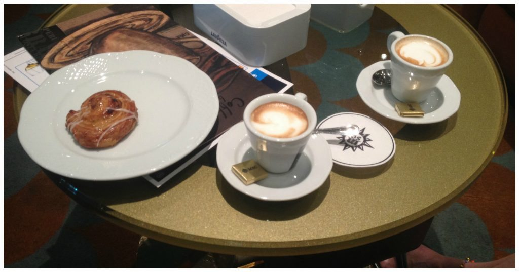 Coffee in the Rendez-Vous Bar on MSC Poesia