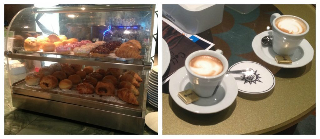 Coffee & pastries from the Rendezvous cafebar on MSC Poesia