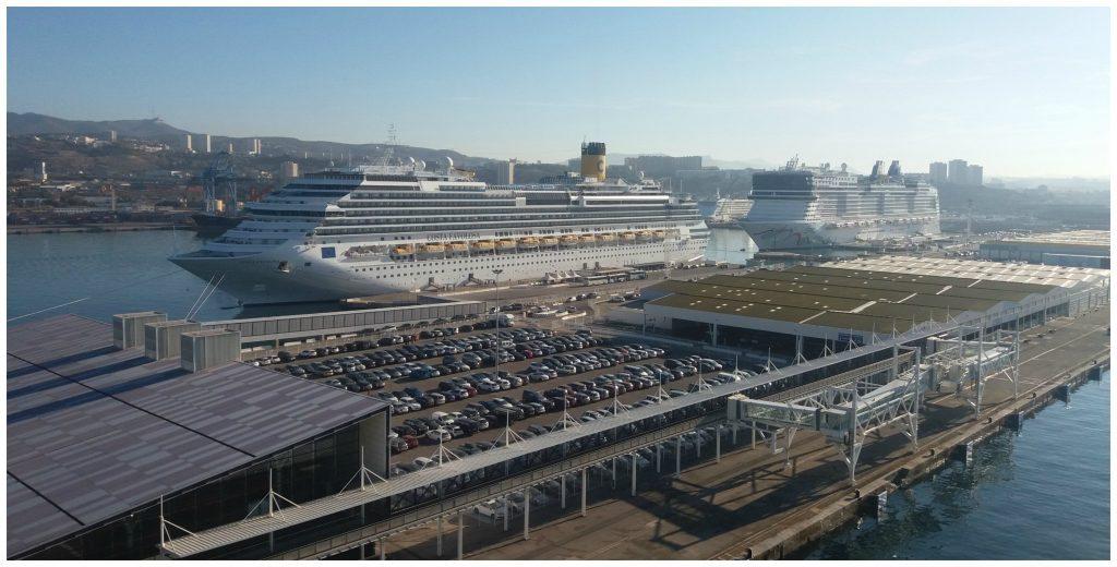 Costa Favolosa & Norwegian Epic in Marseille port