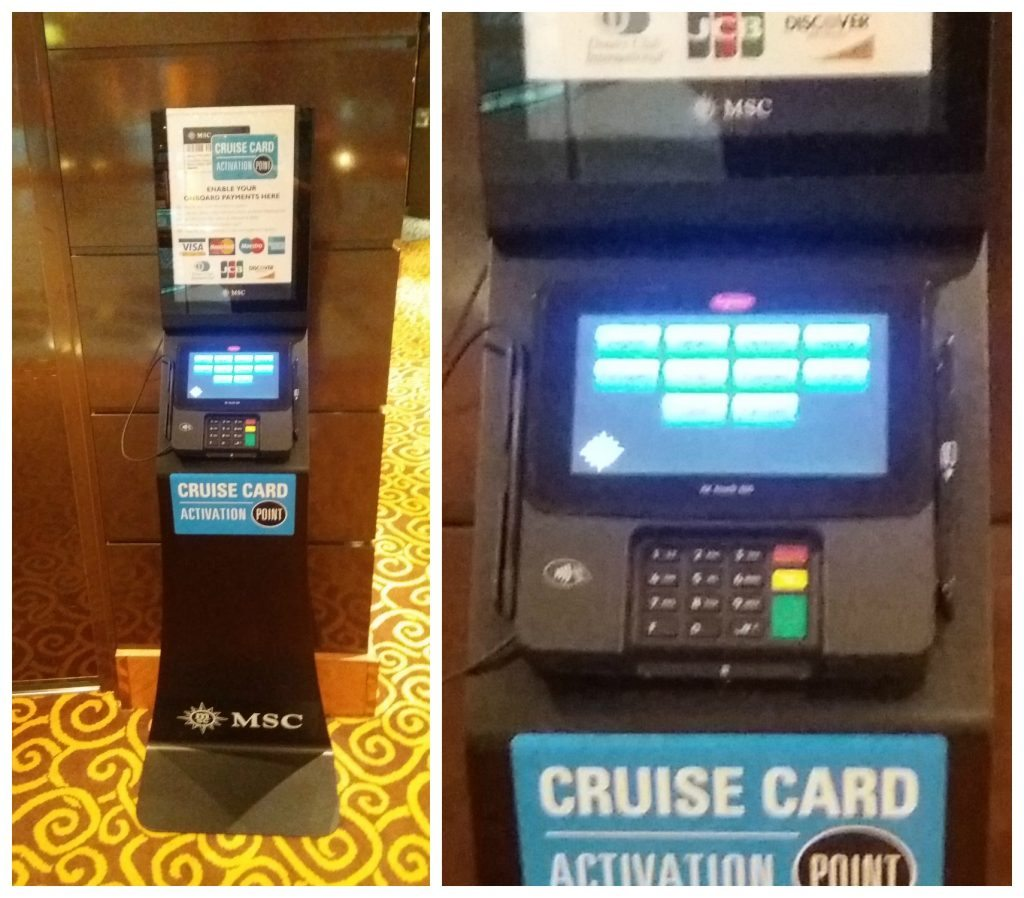 Cruise card activation point