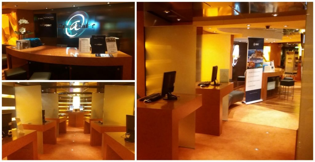 Cyber Cafe on MSC Poesia