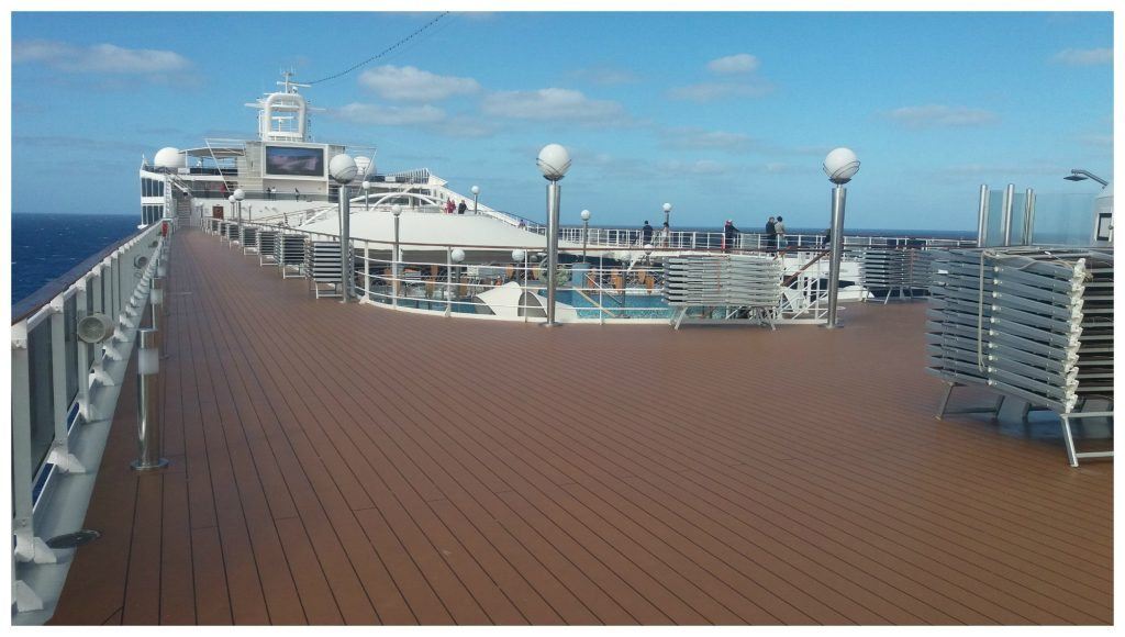 Deck 14 above the pools on MSC Poesia