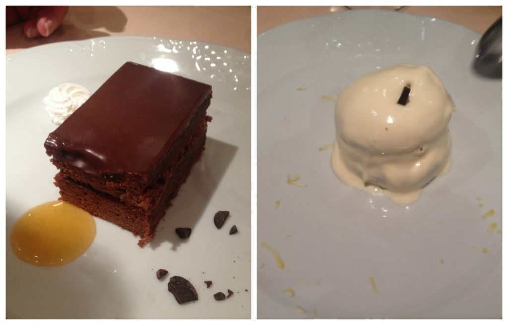 our desserts this evening