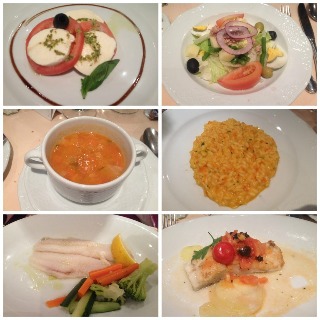 Dinner meals in Le Fontane