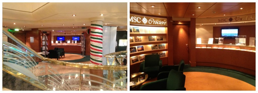 Excursion Office on MSC Poesia