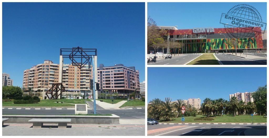 Gran Via shopping center & surounds in Alicante